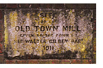 Old Town Mill plaque