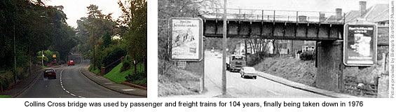 Stansted Road railway bridge then and now