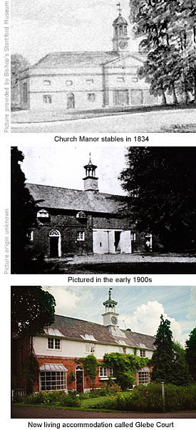 Church Manor stable block then and now