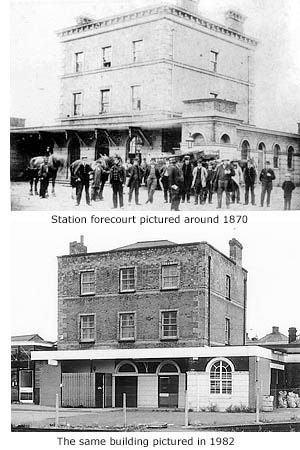 Station building 1870 and 1982