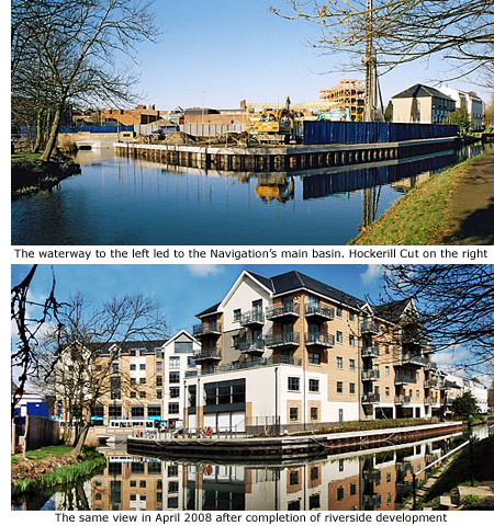 Riverside flats before and after