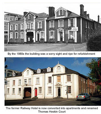 Railway Hotel then and now
