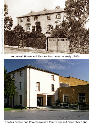 Rhodes Centre then and now