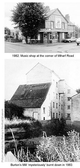 Music shop and Burton Mill