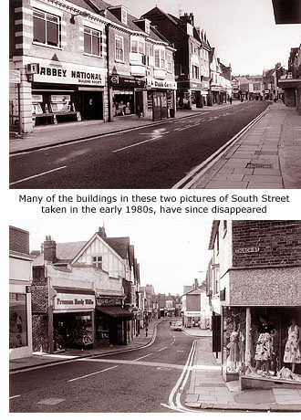 South Street shops 1980s