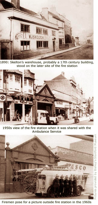 skeltons warehouse; fire station then and now