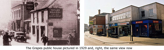grapes pub then and now