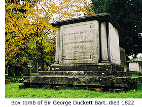 Sir George Duckett's tomb