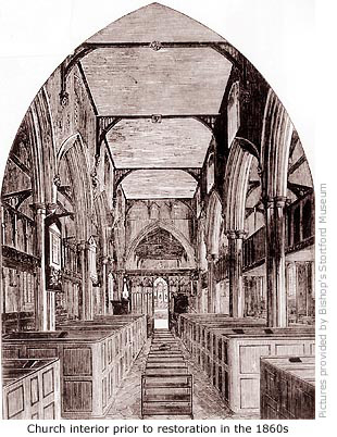 Church interior 1860s illo