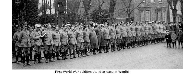 WW1 soldiers in Windhill