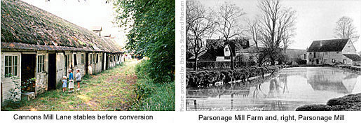 Cannons Mill stables and Parsonage Mill farm
