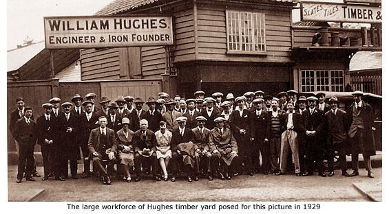 Hughe's timber yard