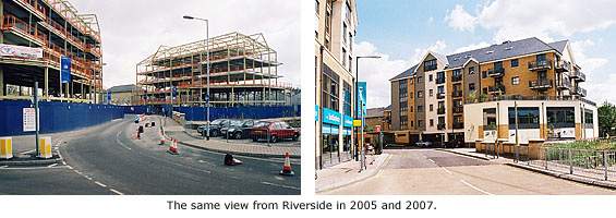 Before and after construction images