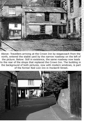 Crown Inn Yard, then and now