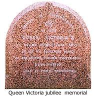 Queen Victoria memorial stone
