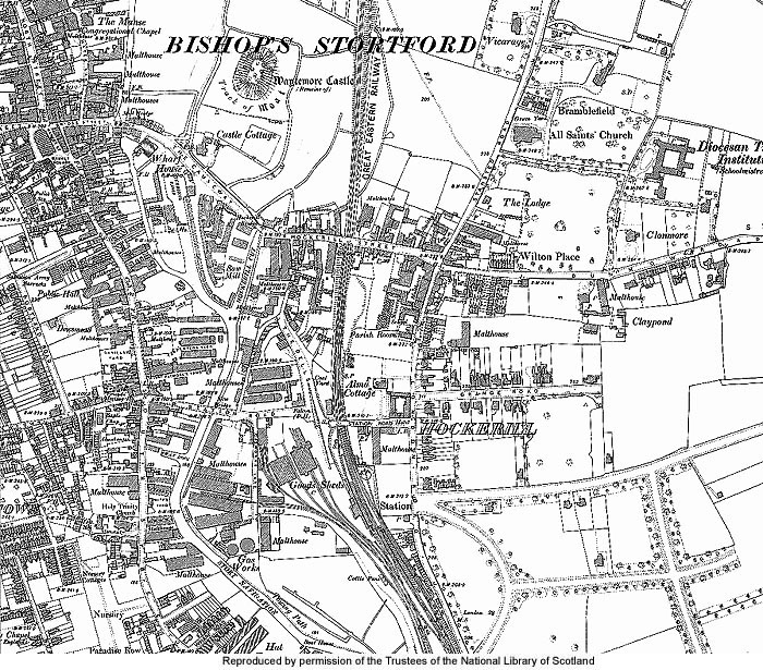 Bishops Stortford Map Location & Town Map | Bishop's Stortford & Thorley   A History & Guide
